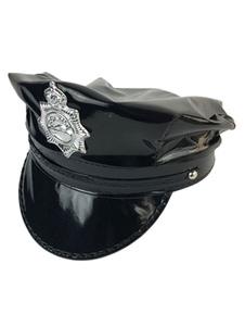Image of Accessorio del costume nero del cappello di Carnevale del PVC di Carnevale per gli uomini Carnevale