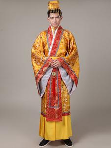 Image of Costumi Cinesi broccato ori set cina cintura&cappello&gown carnevale etnicl