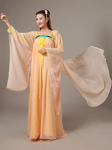 Image of Costumi Cinesi in chiffon set cina abito&cappotto&accessori carnevale etnicl