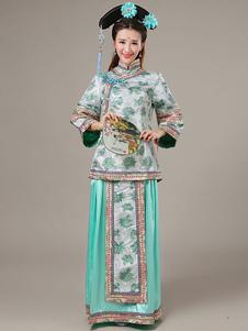 Image of Costumi Cinesi in raso set cina gonna&top carnevale etnicl
