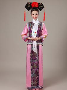 Image of Costumi Cinesi in raso set cina abito&gilet carnevale etnicl