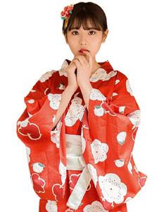 Image of Costume Giapponese per le vacanze di fiamma cotome rosso set la cultura mondiale abito