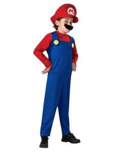 Image of Costumi Bambini cotone misto rossi carnevale per ragazzi bicolore set tuta&cappello&con barba