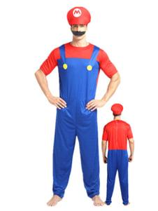 Image of Costumi Cotone misto bicolore Carnevale Super Mario Bros tuta&ca