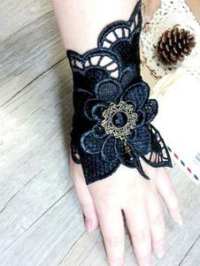 Image of Accessori Lolita classico & tradizionali bicolore pizzo polsiere accessori Blu Marino Scuri misto cotone Tea party