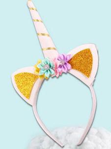 Image of Accessori per capelli accessori bambina accessori per la testa Unicorno Carnevale biancl di plastica