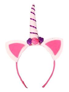 Image of Accessori per capelli accessori bambina accessori per la testa Unicorno Carnevale blu di plastica