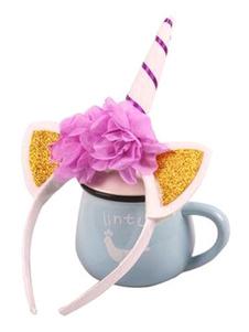 Image of Accessori per capelli accessori bambina accessori per la testa Unicorno Carnevale rosei di plastica