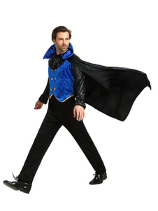 Image of Costumi uomo Vampiro per adulti per uomi mantello Carnevale bicolore neri set