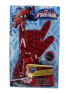 Image of Costume cosplay per bambini accessori Rosso Scuro guanti Spiderman Disegno di Ragnatela di poliestere Carnevale bambino fibra di poliestere