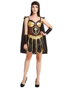 Image of Costumi per Donna guerriero Carnevale accessori per la testa per adulti neri set