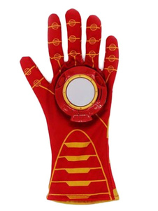 Image of Costume cosplay per bambini accessori rosso guanti Iron Man con stampe di poliestere Carnevale bambino fibra di poliestere