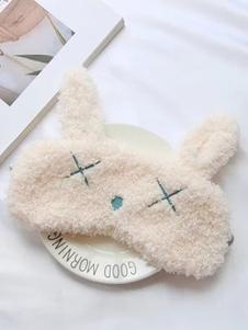 Accesorio de Kigurumi Pijamas de mezclada de lana con parche Conejo