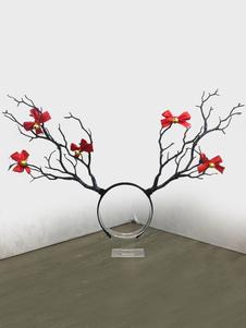 Image of Accessori per capelli accessori per adulti unisex accessori per la testa Natale rossi di flanella