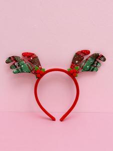 Image of Accessori per capelli accessori per adulti unisex accessori per la testa renna Natale rossi di lana