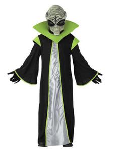 Image of Costume cosplay per bambini set nero Gown accessori Cosplay con stampe di poliestere Carnevale per bambini fibra di poliestere unisex