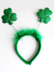 Image of Tu Tu Carnevale mago unisex accessori accessori per la testa per adulti verde di simil velluto