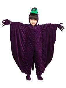 Costume d'Halloween de l'enfants dinosaure Ensemble Prune pour enfants de Toussaint Gants en flanelle en flanelle
