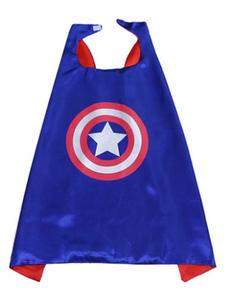 Image of Capitan America Costume Kids Royal Blue Cloak per ragazzi Carnevale
