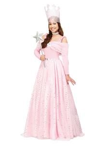 Image of Costume cosplay per bambini set rosa chiaro bastone abito Wizard of OZ monocolore di poliestere Carnevale per adulti fibra di poliestere per donno