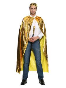 Image of Mantello strega1 per adulti per uomo Carnevale mantello oro di poliestere