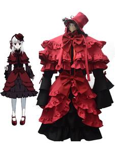 Image of Costume Cosplay K donna accessori per la testa set Anime Giapponese rosso in panno uniforme