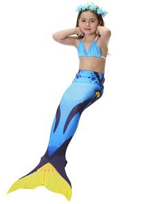 Disfraz de cola de sirena para niños Niñas traje de baño Ombre trajes de baño