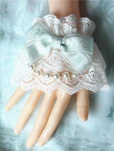 Image of Braccialetti Lolita dolci bicolore fiocchi polsiere accessori biancl Tea party
