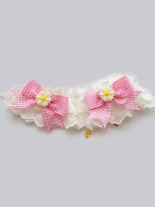 Image of Braccialetti Lolita dolci polsiere bicolore biancl accessori Tea party a pieghi