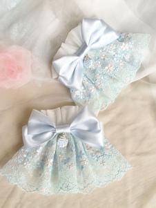 Image of Braccialetti Lolita dolci polsiere bicolore Acqui accessori Tea party fiocchi
