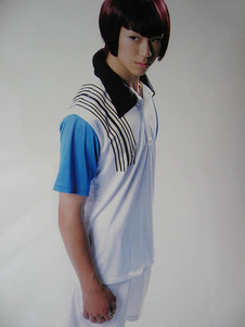 Image of Costume Cosplay Prince of Tennis The Prince of Tennis uomo blu Cotone poliestere pantaloncini set