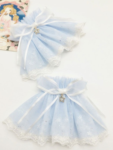 Image of Braccialetti Lolita dolci polsiere bicolore Carta da Zucchero accessori Tea party fiocchi