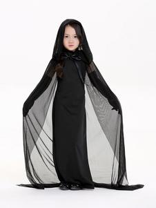 Image of Costumi per bambini per le vacanze abito set strega bambina neri