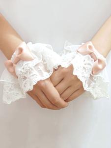 Image of Accessori Lolita dolci bicolore fiocchi polsiere accessori bianc