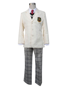 Image of Costume Cosplay Prince of Tennis The Prince of Tennis uomo bianco écru in panno uniforme camicia set