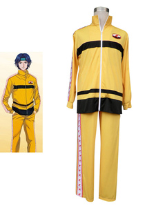 Image of Costume Cosplay Prince of Tennis The Prince of Tennis uomo giallo in panno uniforme cappotto set