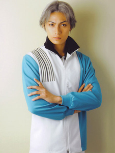 Image of Costume Cosplay Prince of Tennis The Prince of Tennis uomo blu in panno uniforme cappotto set
