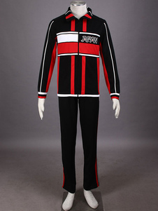 Image of Costume Cosplay Prince of Tennis The Prince of Tennis uomo nero in panno uniforme cappotto set