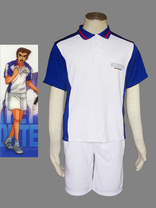 Image of Costume Cosplay Prince of Tennis The Prince of Tennis uomo bianco Cotone poliestere pantaloncini set