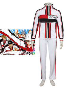 Image of Costume Cosplay Prince of Tennis The Prince of Tennis uomo bianco di poliestere cappotto set