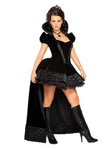 Vampire Costume Halloween Black Vintage Mujer Vestidos