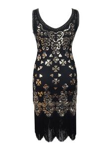 1920 Flapper Dress Gran Gatsby Tassels Vintage Charleston Vestido Halloween 2018