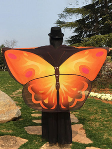 Image of Ali di farfalla monarca ali di farfalla Costume Mantello adulto