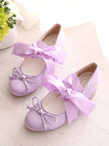 Image of Sweet Lolita Ballet Shoes Bow Strappy Tie Lolita Pumps