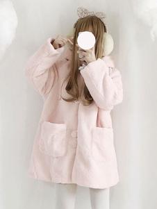 Abrigo de invierno clásico de Lolita abrigo polar polar con capucha Lolita