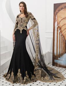 Image of Abiti da sera di lusso ricamati in rilievo abito da donna con ma