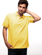 Lumire jaune 60 % coton 40 % Terylene courtes manches Mens Polo Shirt 