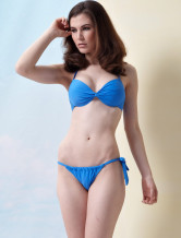 Fresh Sky Blue Nylon Womens Bikini Swimsuit