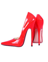 High Heel Red Patent Pump Shoes