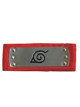Red Naruto Ninja Leaf Village Headband